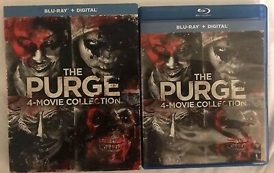 The Purge 4 Movie Collection Blu Ray 4 Disc Set With Slipcover Free Shipping