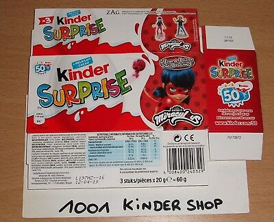 Kinder 3Pack Tripack En Miraculous - 2018 Be Benelux