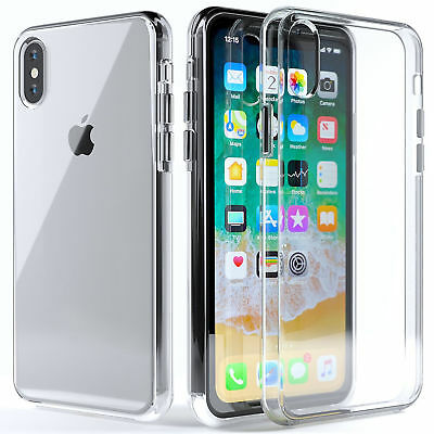 For iPhone X XS Case Silicone Clear Bumper Gel iPhone 10 10S Cover