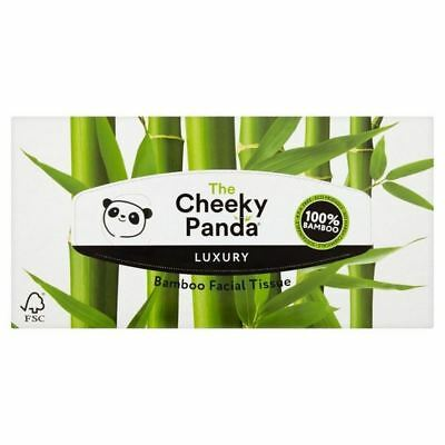 6x Cheeky Panda Natural Bamboo Facial Tissues 80 per pack