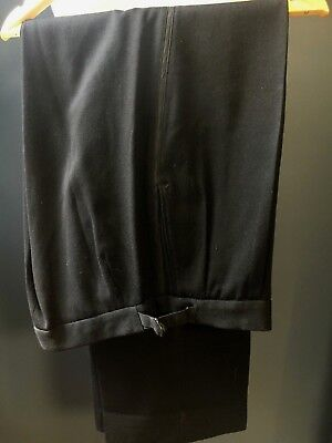 Vintage 1940's 1950's bespoke black tie evening dinner DJ trousers size  36
