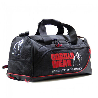 Gorilla Wear Jerome Gym Bag Black Red Tasche Sporttasche Schwarz Rot