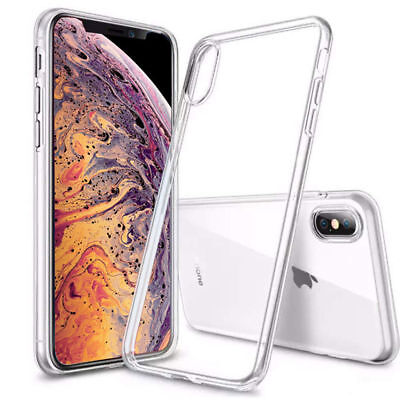 """iPhone XS Max Case 6.5"""" Silicone Clear Bumper Gel iPhone 10S Max Cover"""
