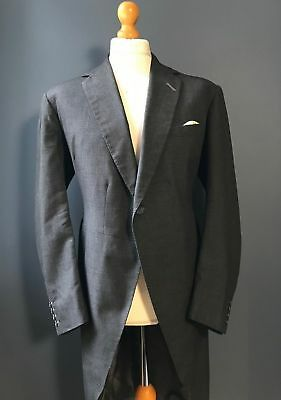 Vintage Bespoke Savile Row three 3 piece morning tails suit size 42 long