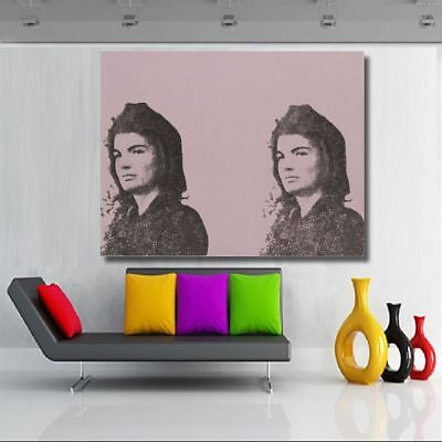 Frameless Jackie By Andy Warhol Canvas Painting Wall Art Posters Home Decoration