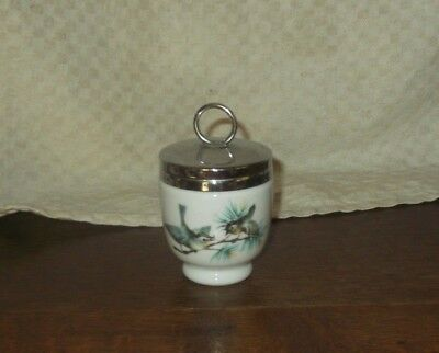Coquetier Cuit Oeuf Royal Worcester Made In England Decor D'oiseaux