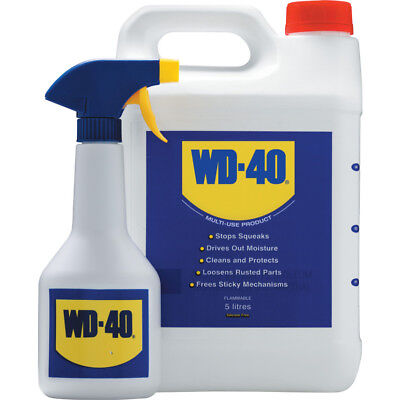 WD40 5 LITRES WITH APPLICATOR SPRAY BOTTLE + Free Sample Fast Release Penetrant