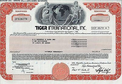 Tiger International Inc., 1989, 11  1/2% Sinking Fund Debenture 1995  (300 $)
