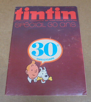 Herge - Journal Tintin - Hebdomadaire N° 40 Special 30 Ans - 1976 + Poster + N°1
