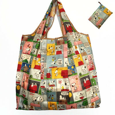 Snoopy Foldable Shopping Nylon Bag ~ Comic Strip