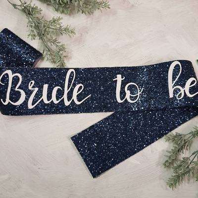 Navy Glitter Bride to be Sash - Hen Party sash - Hen Night sash - Navy Glitter S