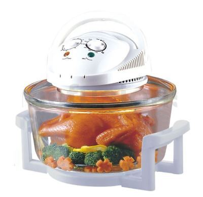 12L Litre Halogen Cooking Oven White Convection Cooker With Accessories 1200W