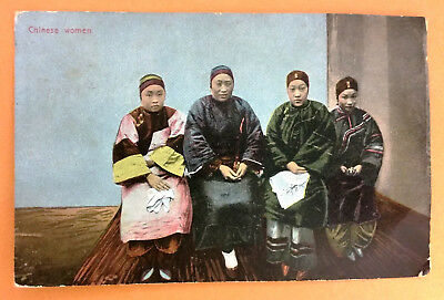 China Chinese Women Girls Lotusfüsse Bounded Feets - old postcard written 1909