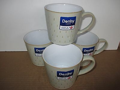 Denby Pottery Linen 4 x Cascade Mugs New 1st Quality Excellent Condition