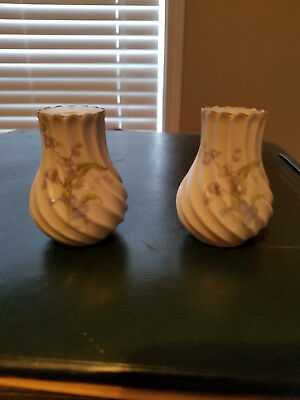 Antique French Porcelain Salt & Pepper Shakers