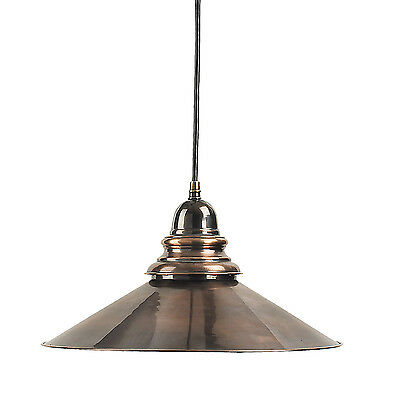 "Savannah Hanging French Lamp Brass Ceiling Light 13"" Nautical Bronze Finish New"