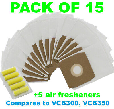 DAEWOO Fortis RC300 RC3006B RC300A RC305 RC310 Vacuum Cleaner Bags - Pack of 15