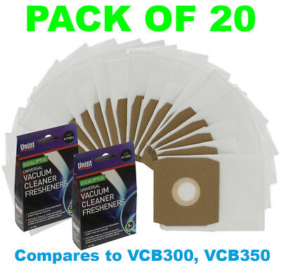 DAEWOO Fortis RC300 RC3006B RC300A RC305 RC310 Vacuum Cleaner Bags - Pack of 20