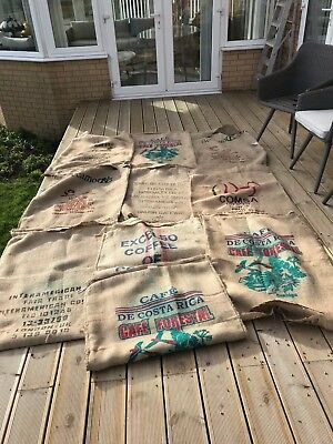 Used Coffee Bean Sacks Jute Brazil Cafe Seating Upholstery Garden Cushions Chair
