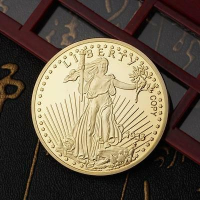 Neu Pure gold coin Pendant Walking Liberty and Double Eagle 1933 1418ct Gold