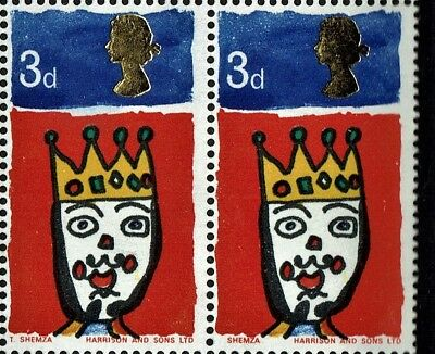 """GB CHRISTMAS CHILDREN PAINTINGS 1966 with PHOSPHOR SG713pc ERROR Missing """"T"""" MNH"""