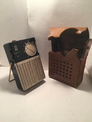 【AS-IS】SONY TR-86 transistor radio 1959 Black With Case (as is)