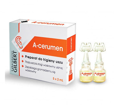A-CERUMEN Ear Wax Remover, Ear Hygiene, Ears 5 x 2 ml - Preparat do higieny uszu