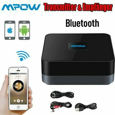 MPOW Wireless Bluetooth V4.1 Receiver Stereo Audio Adapter 3.5mm to RCA Cable US