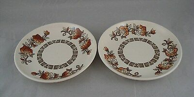 Vintage Myott Dynasty Coasters Butter Pats - Set of 2 - England Staffordshire