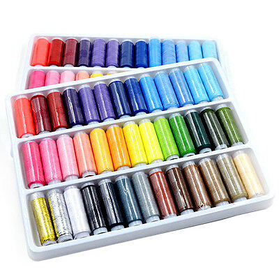 Neu 39pcs 200 Yard Mixed Colors Polyester Spool Sewing Thread For Hand Machine