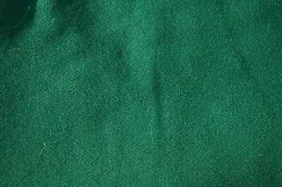 """UNUSED/Vintage Green Wool Fabric 60""""x  1 1/3 YARDS NICE RICH GREEN COLOUR"""