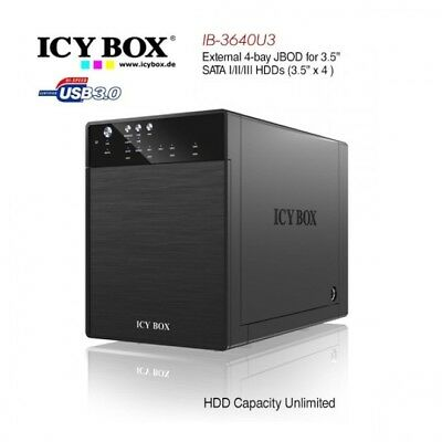 ICY BOX IB-3640SU3 External 4-bay JBOD system for 3.5 Inch SATA HDDs