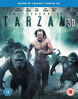 The Legend of Tarzan [Includes Digital Download] (Blu-ray 3D) [DVD][Region 2]