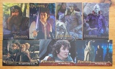 Single The Lord Of The Rings trading cards LOTR FOTR TT ROTK promo prismatic