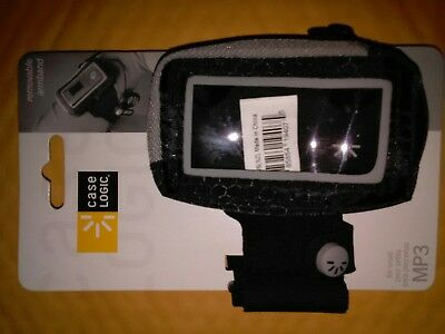 New Case Logic Mp3 Player Armband Case Black Gray Mmpc28 63-2401380 Removable