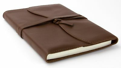 """Soft Genuine Leather Journal, 5""""x7"""", 240 Lined Pages, Refillable, Dark Brown"""