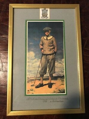 HRH POW / Edward VIII Golf 1922 William Orpen Reproduction Golfing at St Andrews