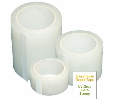 Poly Patch Tape Clear UV Greenhouse Tunnel Permanent Repair Tape - 54ft Length