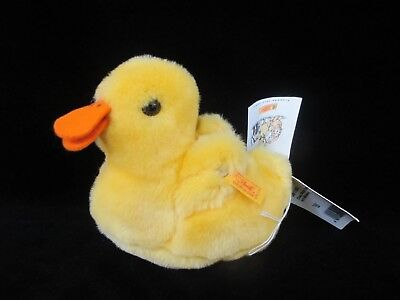 Vintage German STEIFF Lil Peep Yellow BABY DUCK 91162 Chick with Tags