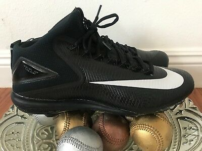 brand new 88300 03250  85 Nike Air Trout 3 Pro Mid Metal Mens Baseball Spikes Cleats Black or Red  2