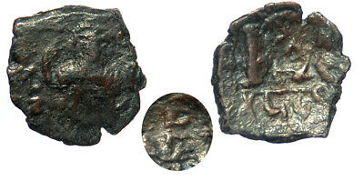 Byzantine Constans II AE Follis Constantinople mint with Countermark SB 35