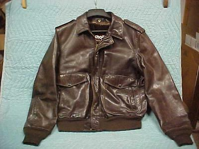 Schott NYC Brown Flight Jacket w Liner, Slightly Used Excellent Condition