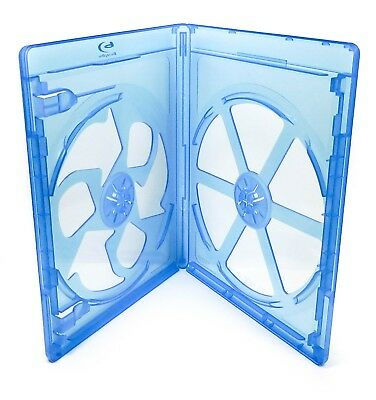 (3) Empty 2-Disc 12mm Blu-Ray Movie Replacement Cases - Set Lot of 3