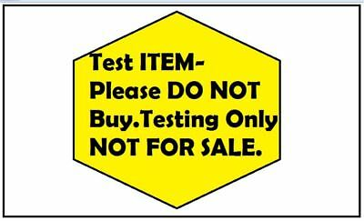 test item do not buy-NOT FOR SALE