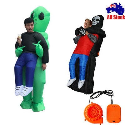 Alien Ghost Inflatable Costume Halloween Funny Blow Up Suit Party Fancy Dress AU