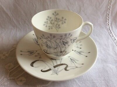 Wedgwood Wild Oats Vintage Footed Tea Cup And Saucer