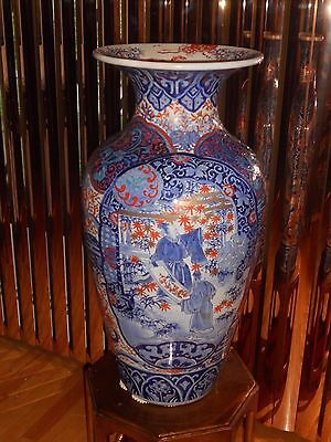 Early 19Th Century Japanese Imari Palace Vase Rare In Size & Quality Very Heavy