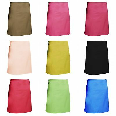 Dennys Multicoloured Catering Waist Apron 28x36ins (BC3180)