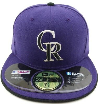 competitive price 00c3a 72cf0 Colorado Rockies New Era 59FIFTY fitted hat cap Authentic On-Field