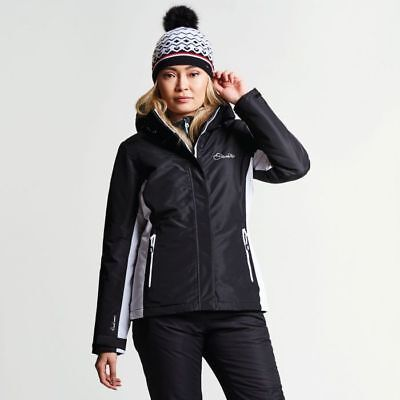 f3117743d5c5 Dare2b Womens Prosperity BLACK Ski Jacket Ladies NEW SIZES 10 - 20 UK